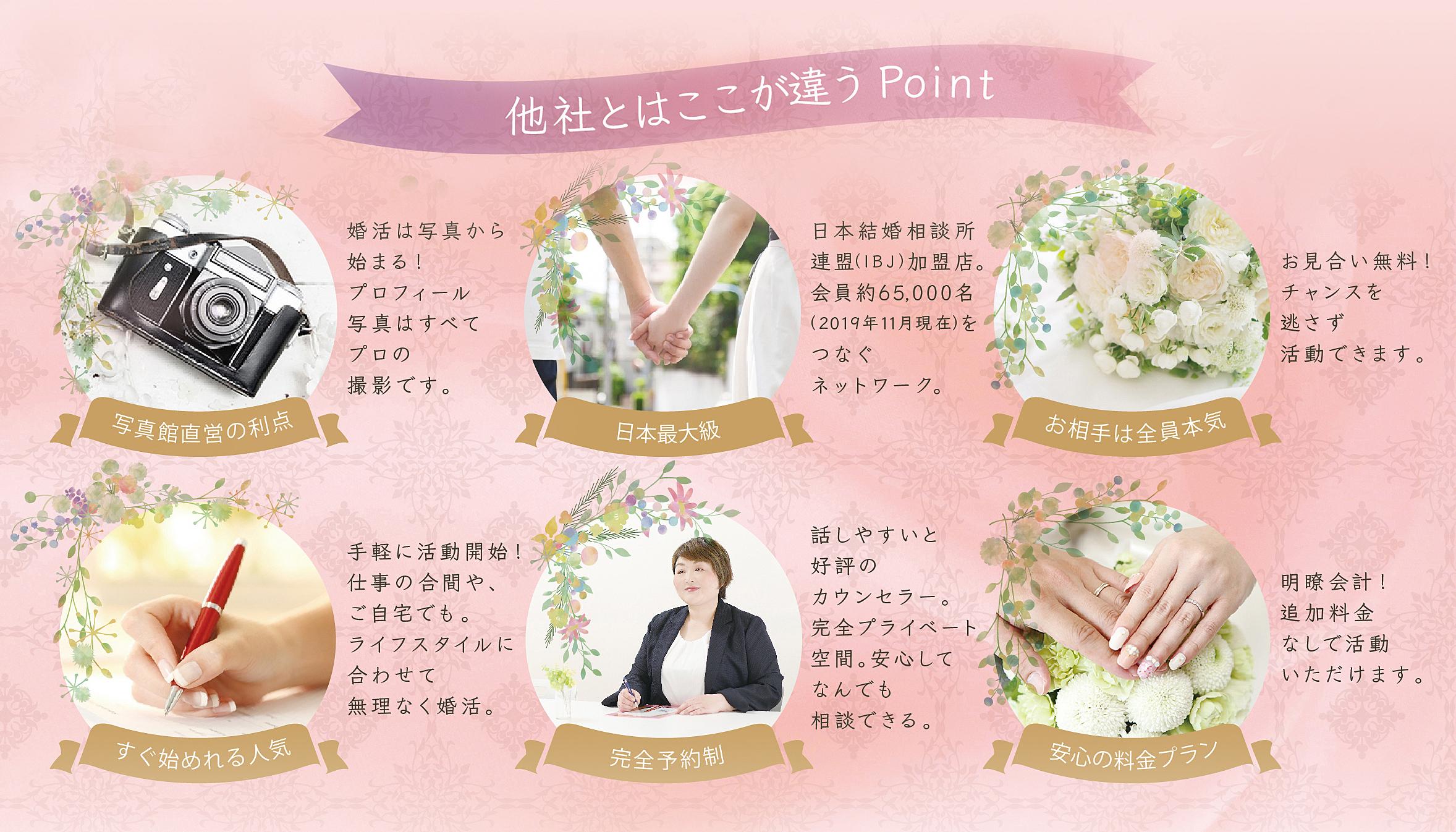 広島と奈良のさくら咲ク結婚相談所が人気の理由を説明しています